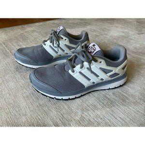 Adidas Cloudfoam Gray White Running Shoes Men's